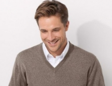 Pull homme col V, made in France, Bernard-Solfin