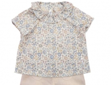 Chemise et bloomer bebe, Marie Puce, made in France