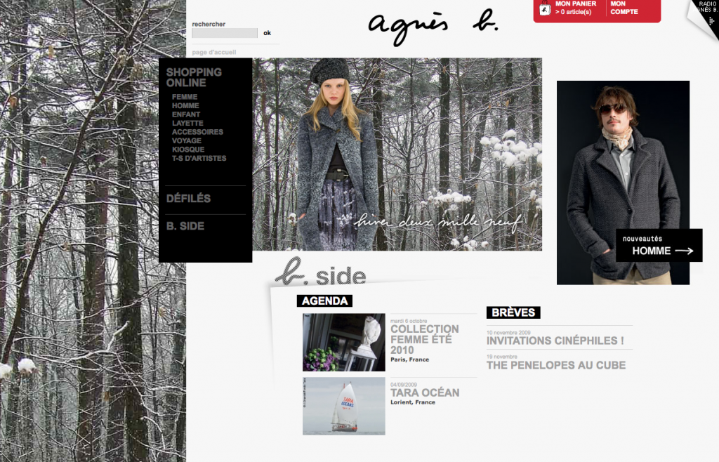 Site Internet Agnès b