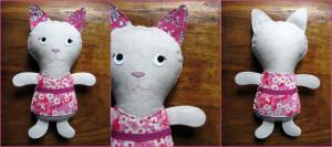doudou chatte Kolinosté fabriquée en France