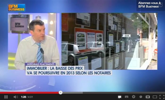 Baisse prix de l'Immobilier en France