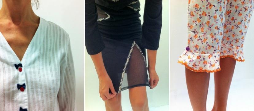 Details pyjama et chemise de nuit made in France
