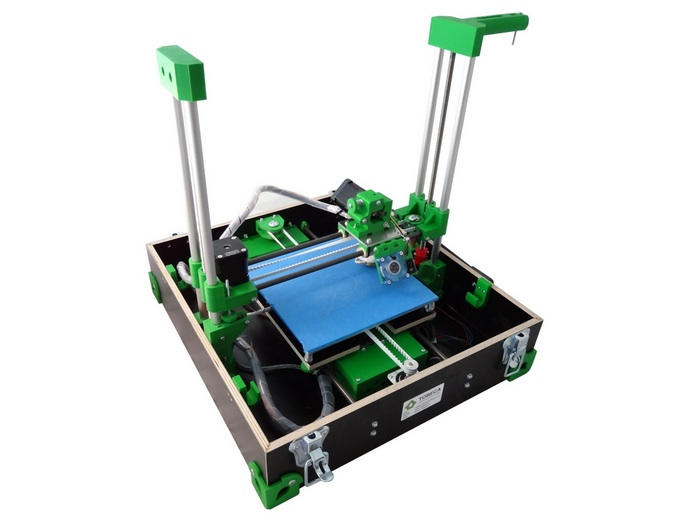 L'imprimante 3D Tobeca, dans sa petite mallette.