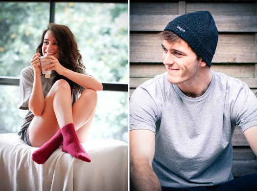 Bonnet et chaussettes madein France, Orijns