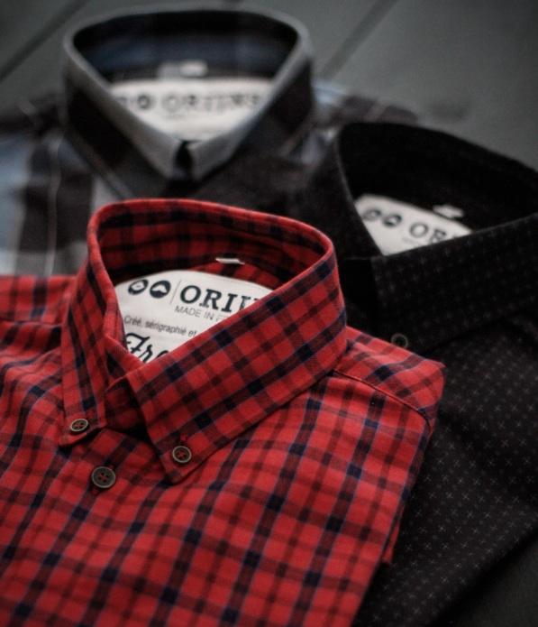 Orijns, chemise homme  fabriquées en France