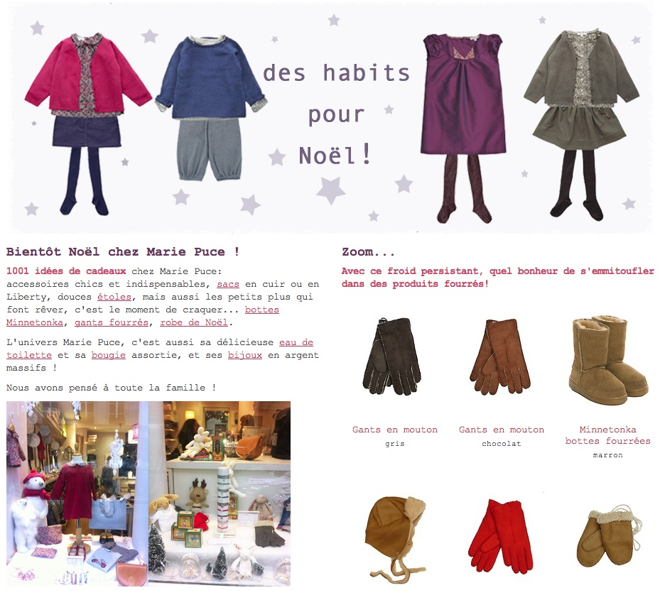 Marie Puce, tenues enfant made in France