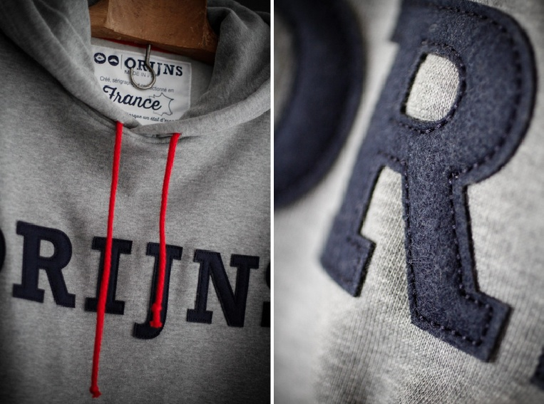 Orijns, sweat à capuche made in France
