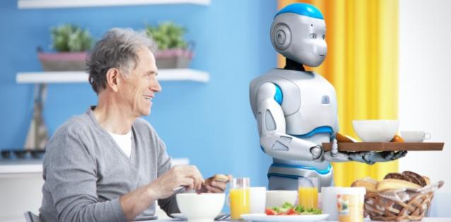 Roméo, petit robot humanoïde fabriqué en France par Aldebaran Robotics