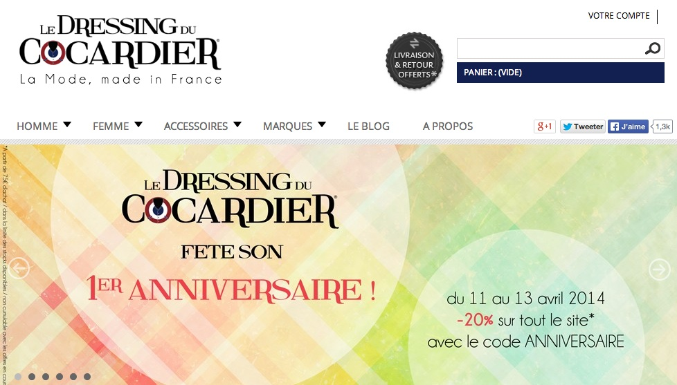 Le Dressing du Cocardier a 1 an