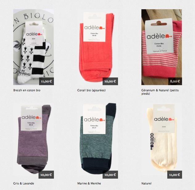 Remise sur les chaussettes made in France Adéle