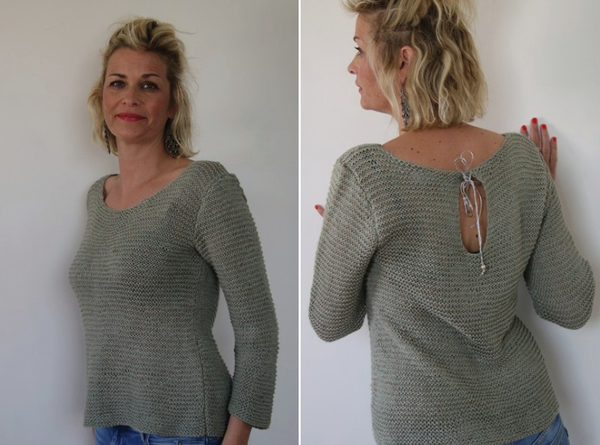 "Pull Ligne sauvage ""made in France"", 60 % chanvre, 40 % lin"