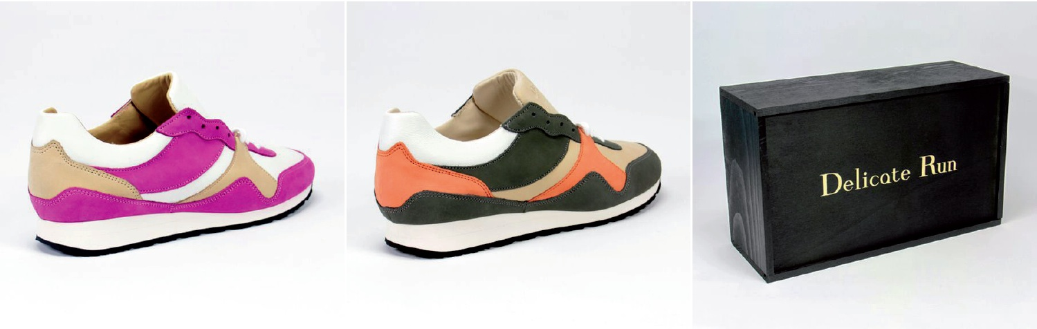 Delicate Run-sneakers luxe made in France