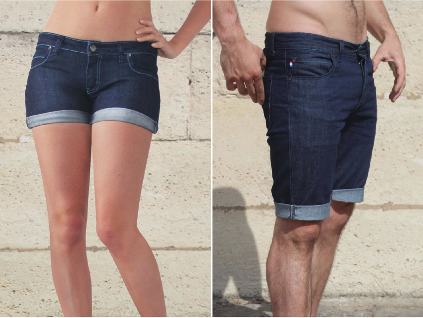 Shorts et Bermudas en jeans made in France, par French Appeal