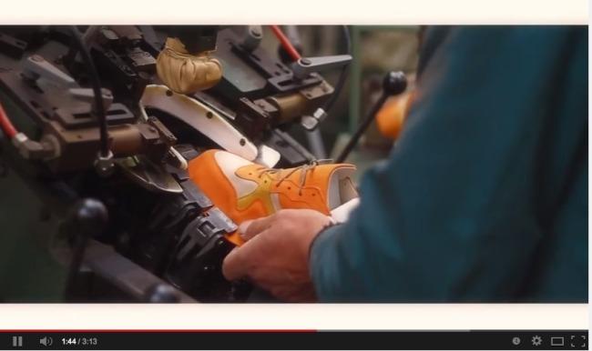 Fabrication en France d'une chaussure Delicate Run