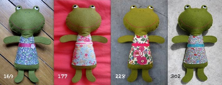Soldes doudou Kolinoste, grenouilles made in France