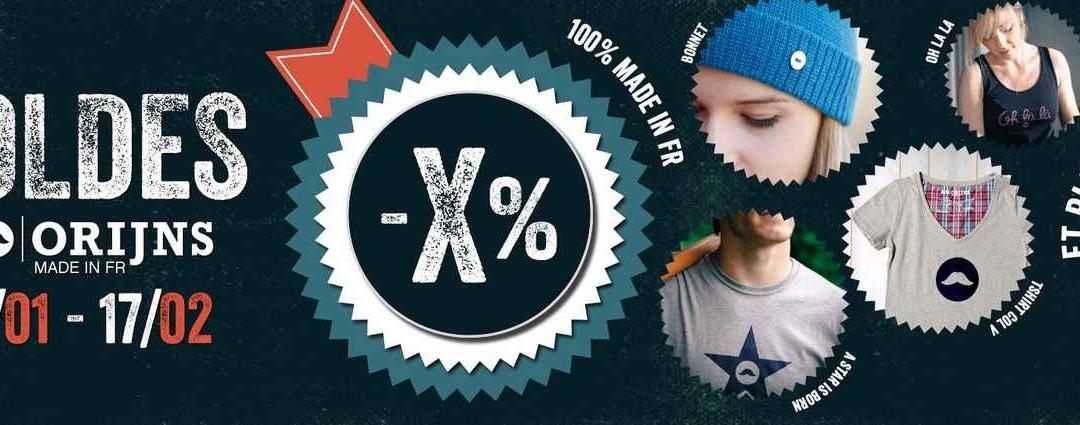 Soldes made in France : 10 % de remise en plus chez Orijns