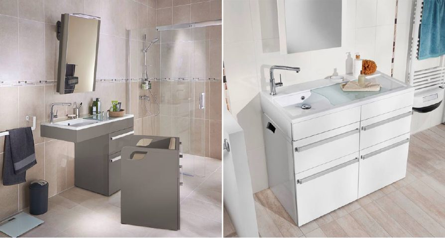 Populaire Concept'Care© de Lapeyre, meubles de salle de bain made in France  ND51