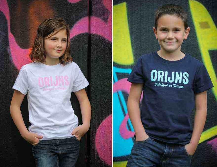 T-shirts enfant made in France, par Orijns