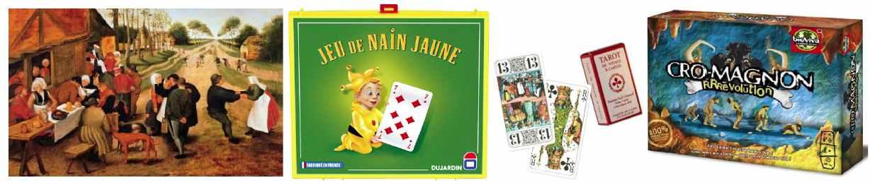 Puzzle Michèle Wilson, Nain jaune Dujardin, jeu de tarot France Cartes et jeux Cro-Magnon Bioviva. © LFH
