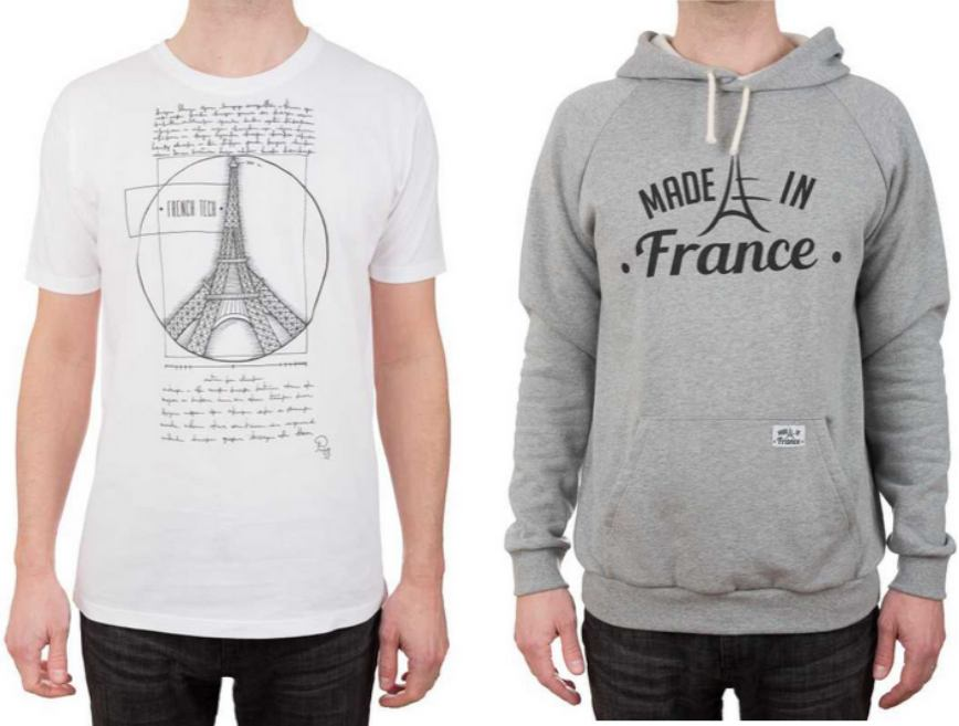 Made in France, t-shirts et sweat-shirts fabriqués en France