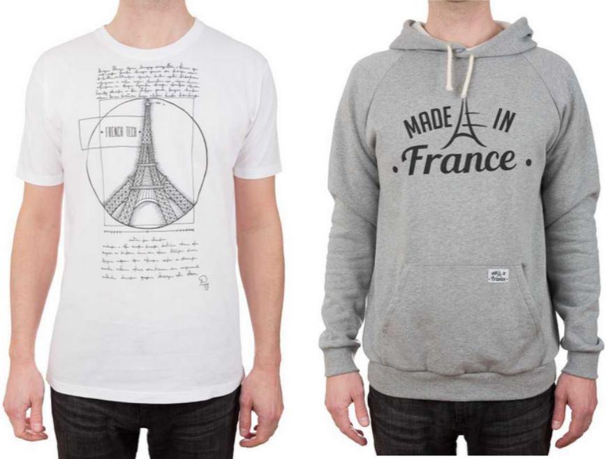 Made in France, t-shirts et sweat-shirts fabriqués en France