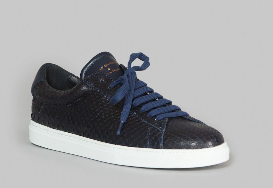 Zespa, sneaker luxe et made in France en python