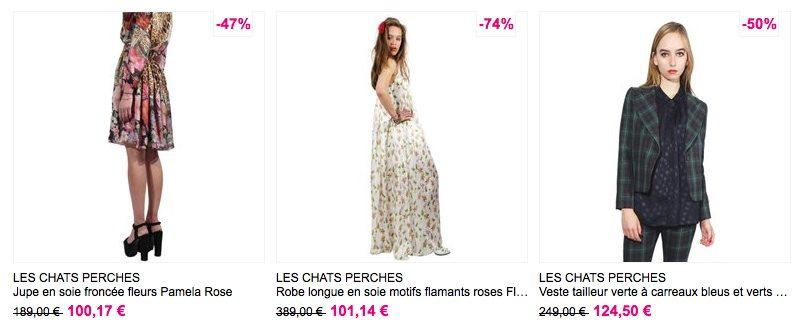 Les Chats perchés, soldes femme, prêt-à-porter made in France
