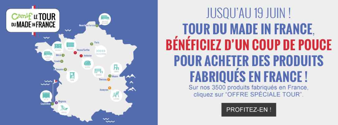 Camif, tour du made in France