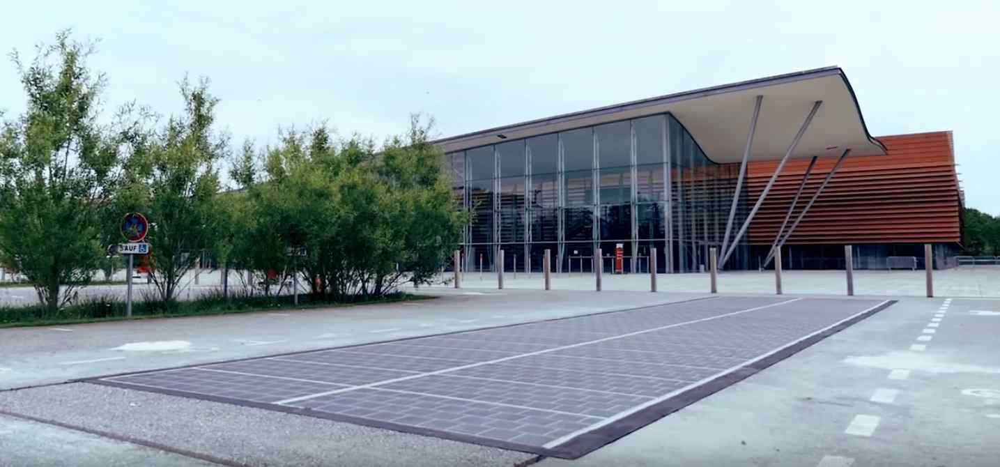 Le premier projet WattWay, réalisé en Vendée. © Groupe Colas