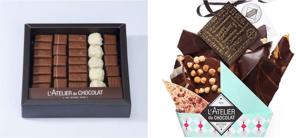 L'Atelier du chocolat, confiseries fabriquées artisanalement en France