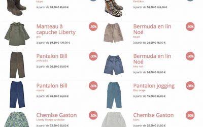 Vêtements enfants : remises de printemps chez Marie Puce