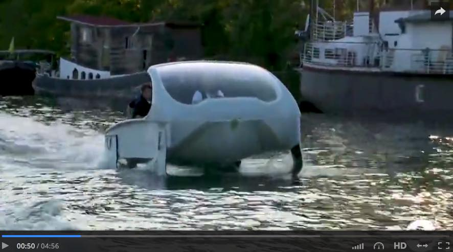 Techno made in France : le premier SeaBubbles a navigué sur la Seine !