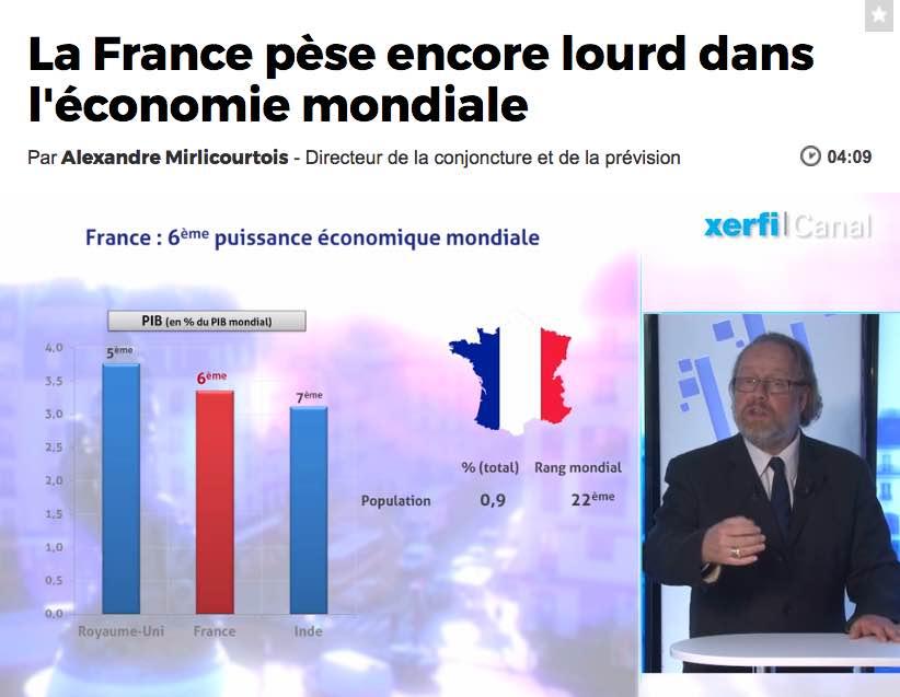 La France, toujours un acteur majeur de l'économie mondiale