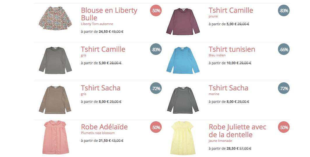 "Vêtements ""made in France"" : de 50 à 80 % de remise chez Marie Puce"