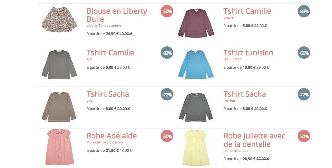 """Vêtements """"made in France"""" : de 50 à 80 % de remise chez Marie Puce"""
