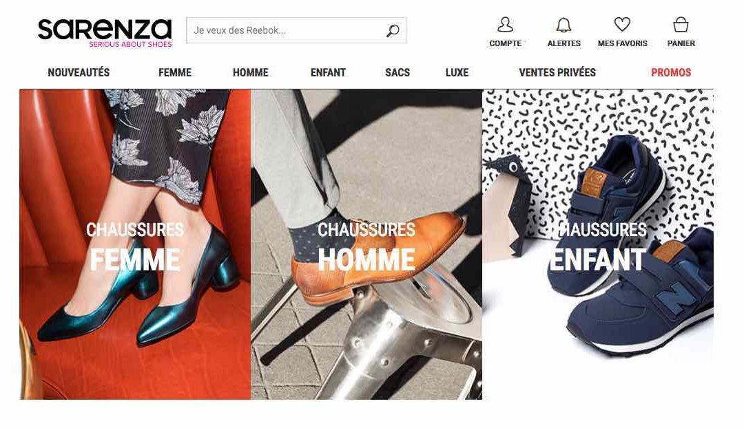 Rabais sur Sarenza.com, y compris sur le «made in France»