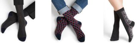 Bleu Forêt, chaussettes haut de gamme made in France pour homme et femme