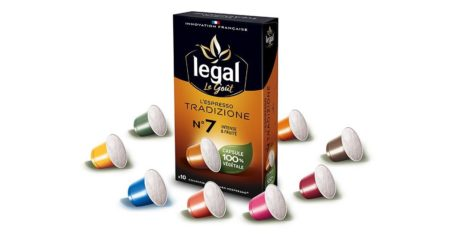 Legal fabrique en France des capsules Nespresso 100% végétales et biodégradables