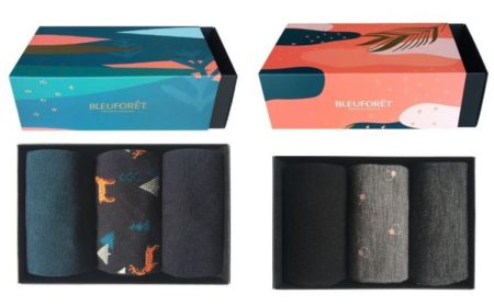 Bleu Forêt, chaussettes homme et femme fabriquée en France
