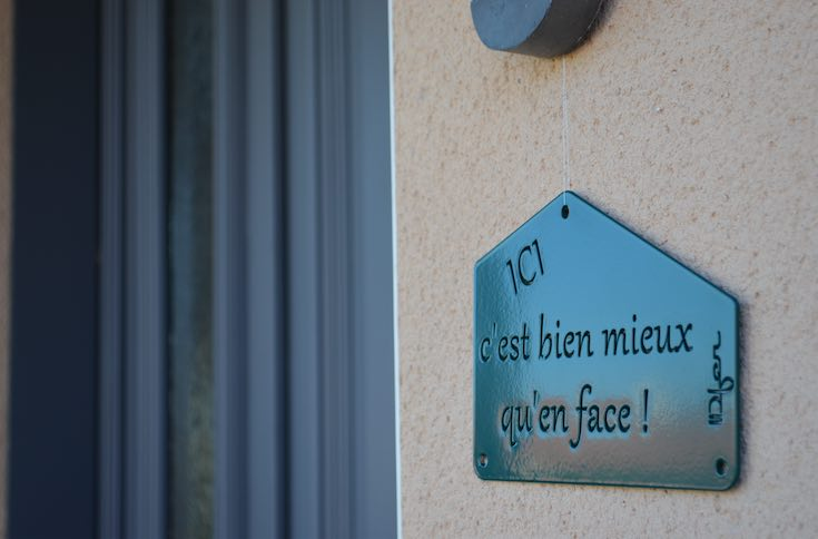 Plaque d'entrée made in France, IDfer.