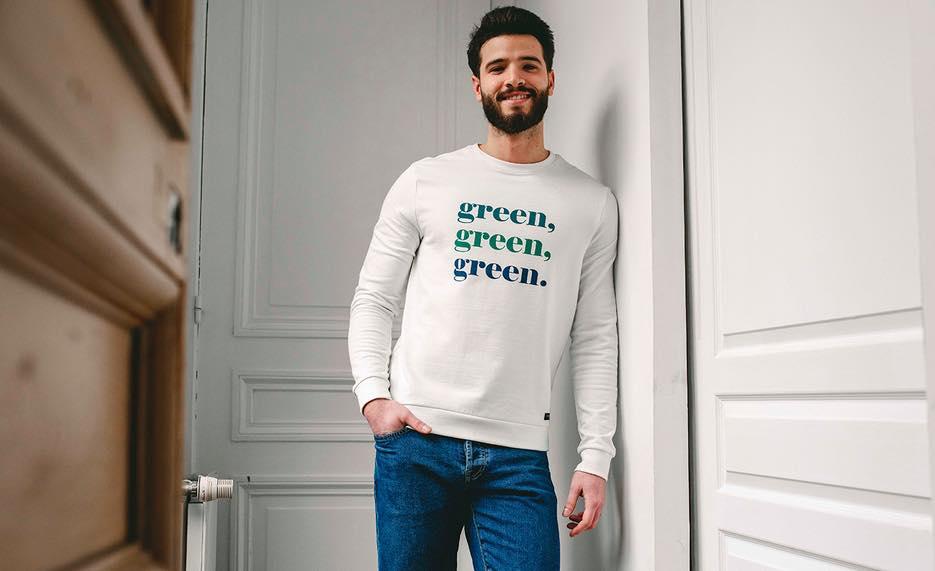 Sweatshirt Aquaponie de chez La Gentle Factory, fabriqué en France.