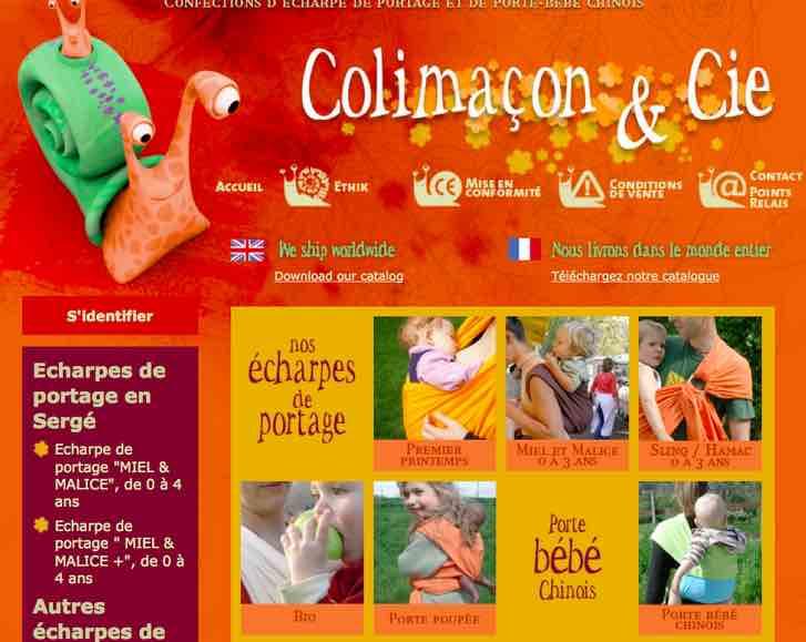 Colimaçon & Cie, des écharpes porte-bébé fabriquées en France.