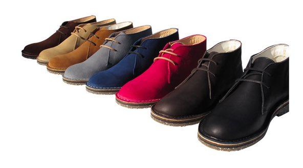 Desert boots fabriquées en France.
