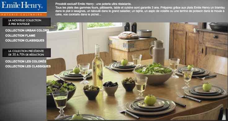 Emile Henry, poteries culinaires fabriquées en France.