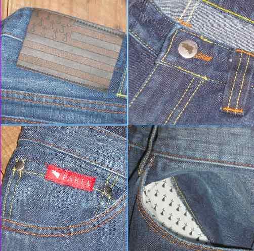 Jeans homme fabriqués en France.