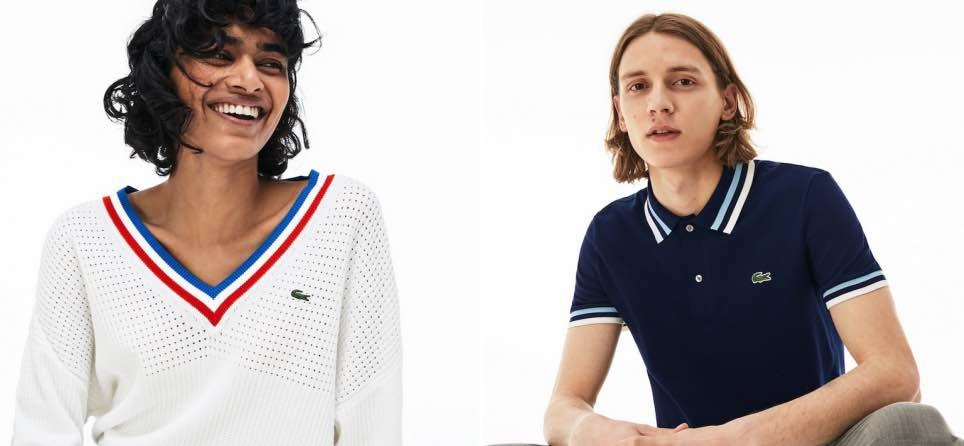 Lacoste fabrique en France des polos, t-shirts, pulls, robes et ceintures, pour homme et femme.