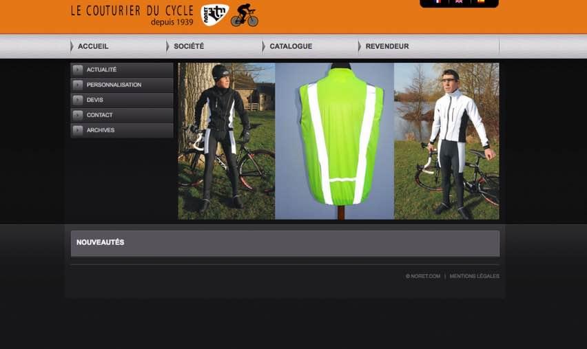 Noret, équipement cycliste fabriqué en France.