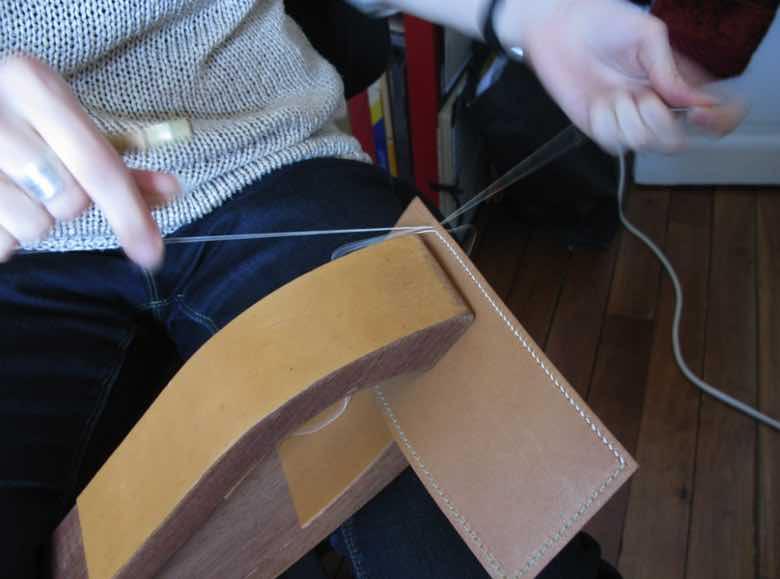 Sacs en cuir fabriqués sur mesure, en France.