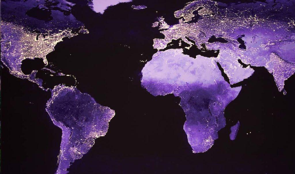 Photo satellite de la terre.