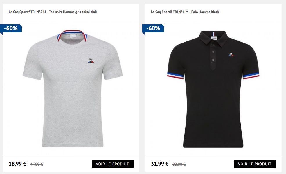 Le Coq Sportif, vêtements et chaussures de sport en partie fabriqués en France.